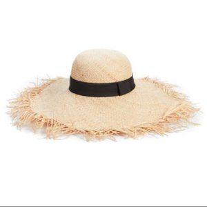 BP. Raw Edge Floppy Straw Hat